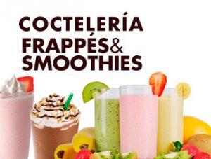 coctelería, frappes y smoothies