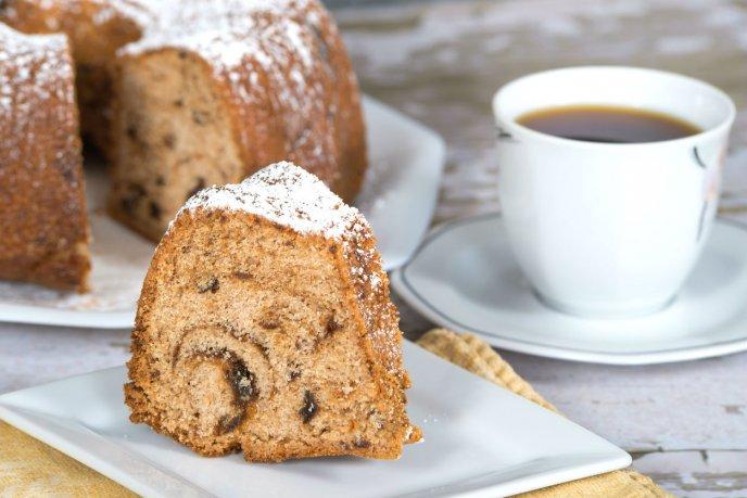 pasteles preparados con café