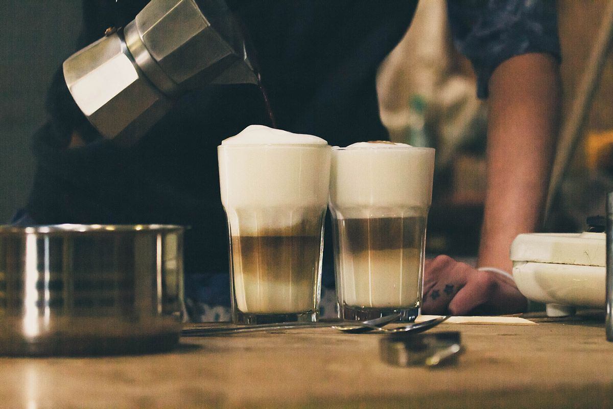 cafe con espuma