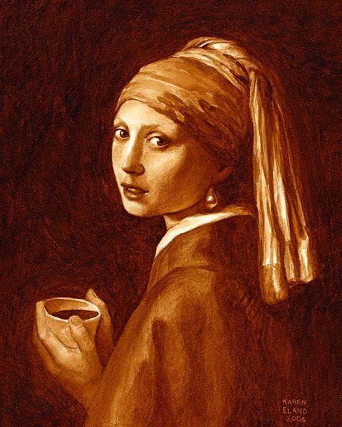 el arte con los posos del café