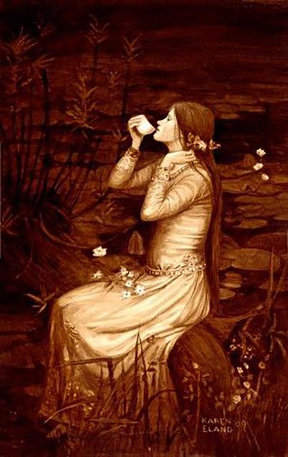 arte posos de café mujer